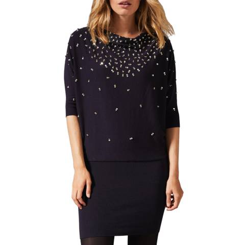 Phase Eight Navy Becca Sequin Dress