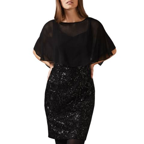 Phase Eight Black Marcy Sequin Dress