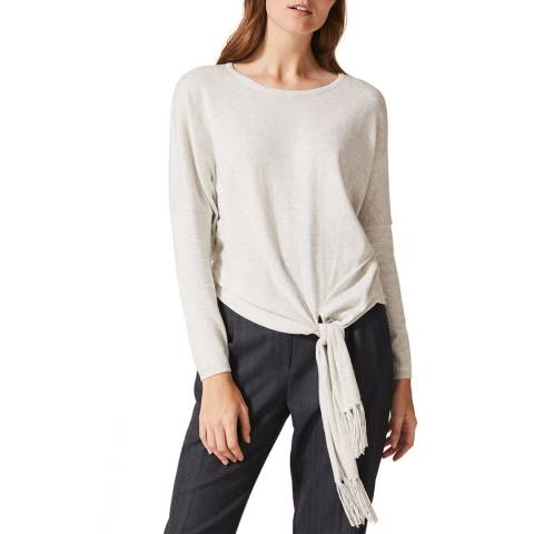 Phase Eight Grey Saffie Scarf Knit Top