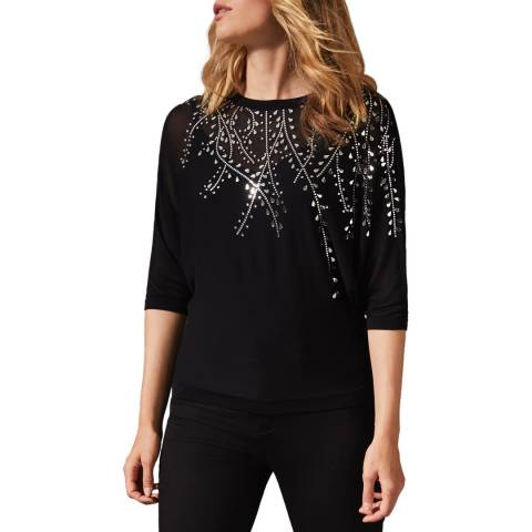 Phase Eight Black Mazy Mirror Jumper