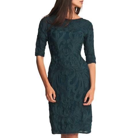 Phase Eight Green Nikki Tapework Dress