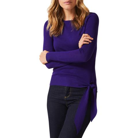 Phase Eight Purple Tessa Tie Side Jumper