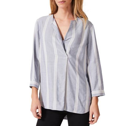 Phase Eight Blue Stripe Tanya Top