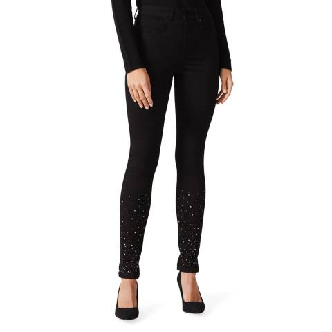 Phase Eight Black Simmi Diamante Stretch Jeans