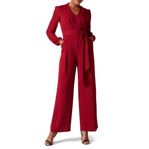 Phase Eight Red Audrey Jumpsuit