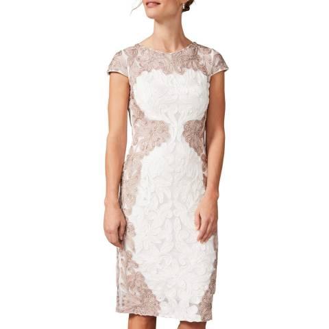 Phase Eight Ivory Nori Tapework Dress