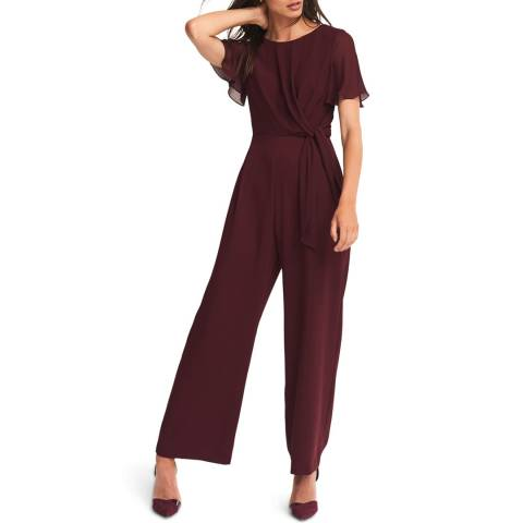 Phase Eight Deep Red Georgette Jumpsuit