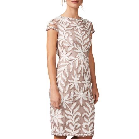Phase Eight Taupe Isobel Tapework Dress