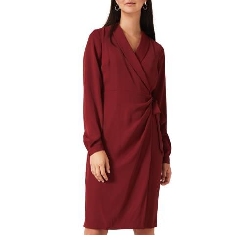 Phase Eight Red Briella Wrap Dress