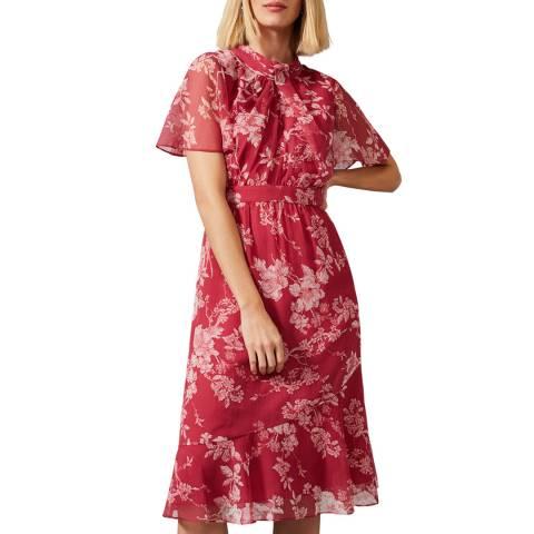 Phase Eight Pink Maya Floral Dress