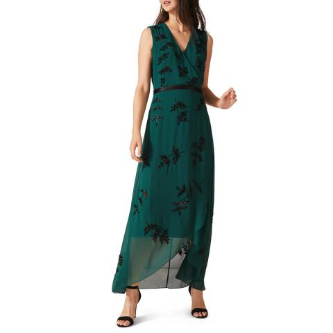 Phase Eight Green Serena Beaded Dress