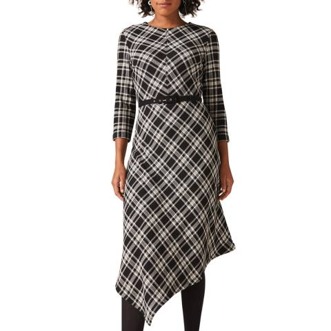 Phase Eight Black Elise Check Dress