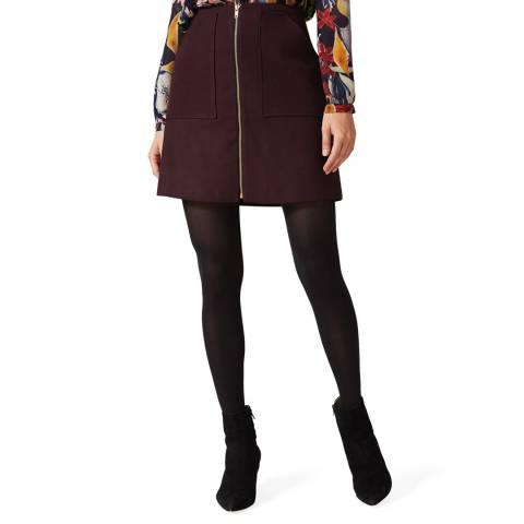 Phase Eight Burgundy Drue Skirt