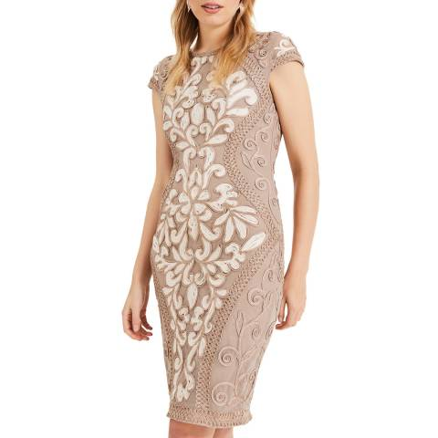Phase Eight Brown Perdy Tapework Dress