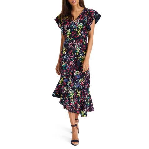 Phase Eight Navy Sheldon Printed Dress