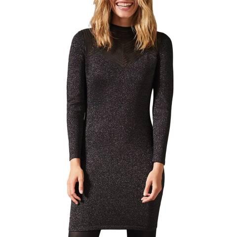 Phase Eight Grey Sparkle Tam Knit Dress
