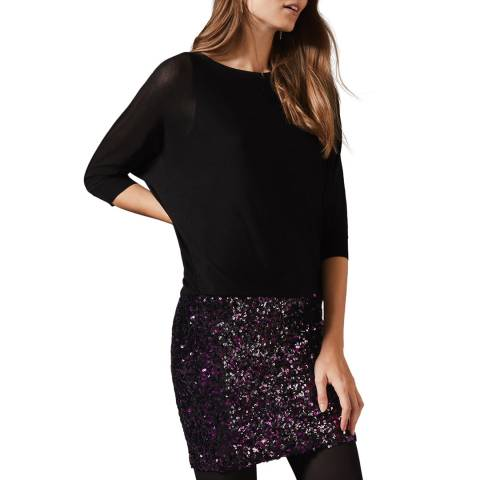 Phase Eight Black Geonna Sequin Dress