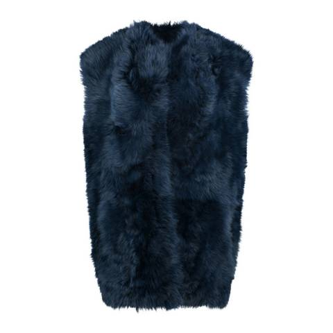 Gushlow & Cole Dark Teal Shearling Taper Gilet