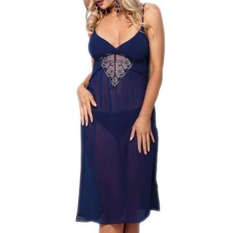 Vena Lingerie Navy Blue Nightdress