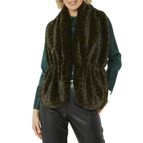 JayLey Collection Multi Faux Fur Stole