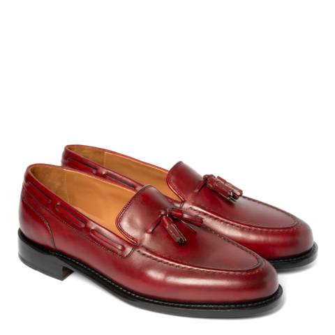 Chapman & Moore Red Hand Painted Aldon Leather Loafers