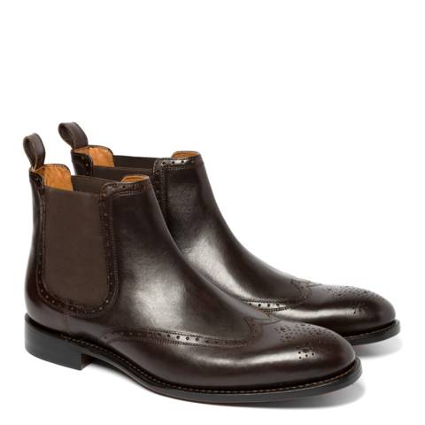 Chapman & Moore Chocolate Chelsea Leather Golf Boots