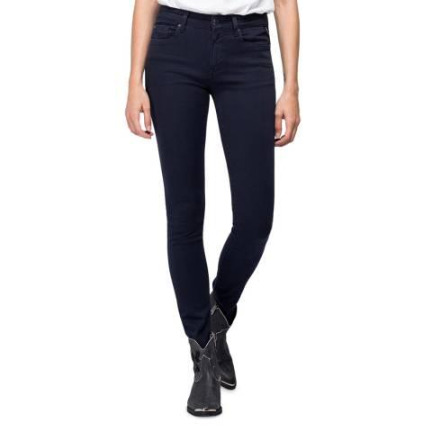 Replay Navy New Luz Skinny Hyperflex Jeans