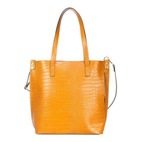 Giulia Massari Cognac Leather Backpack
