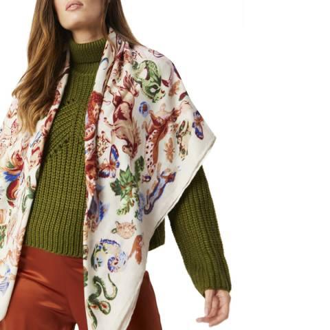 JayLey Collection Multi Cashmere Digital Print Wrap
