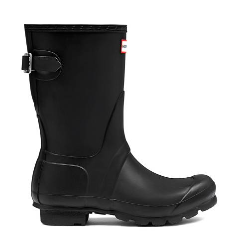 Hunter Black Original Adjustable Short Wellington Boots