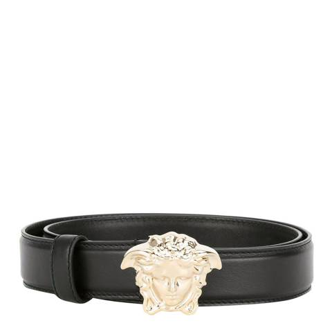 Versace Unisex Black/Silver Palazzo Belt