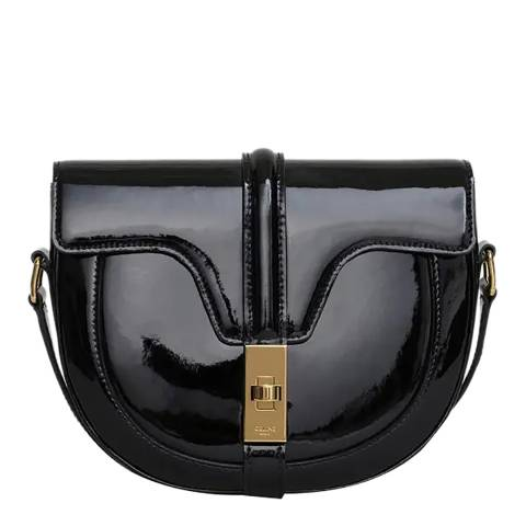 Celine Black Patent Small Besace 16 Bag