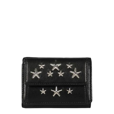 Jimmy Choo Black Nemo Studded Black Coin/Card Holder