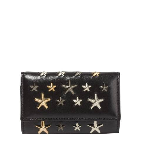 Jimmy Choo Black Neptune Key holder With Studs