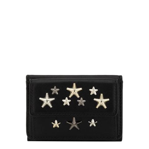 Jimmy Choo Black Nemo Studded Black Coin/Card Holder