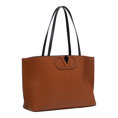 Valentino Garavani Brown Small Fillme Shoulder Bag