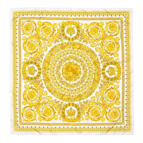 Versace White/Gold Barocco FW91 Foulard