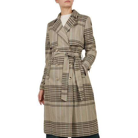 Ted Baker Natural Cristta Check Trench Coat
