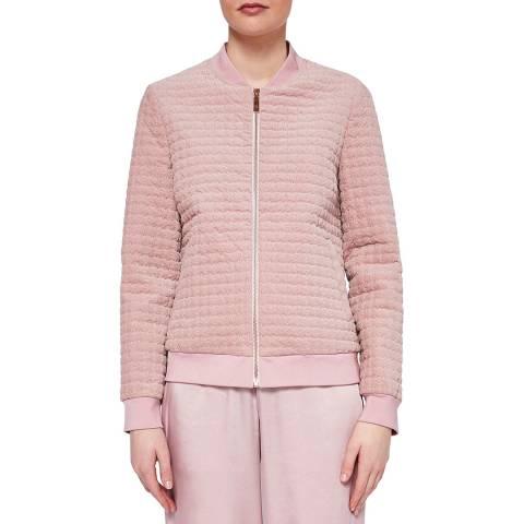 Ted Baker Pink Prindle Quilted Velvet Jacket