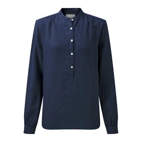 Schöffel Women's Navy Athena Linen Shirt