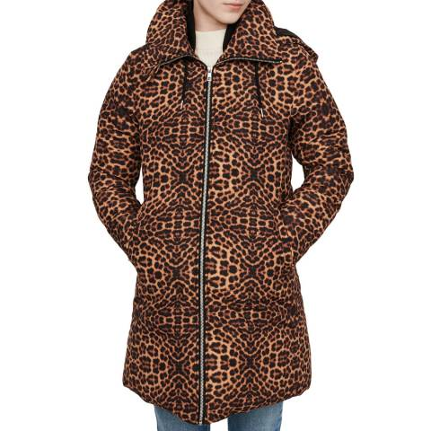 MAJE Multi Glues Leopard Print Coat