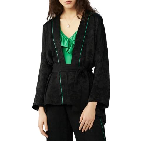 MAJE Black Jacquard Jacket