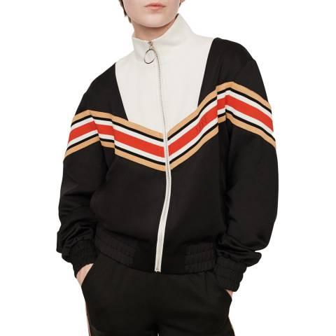 MAJE Black/Multi Thelo Full Zip Sweatshirt