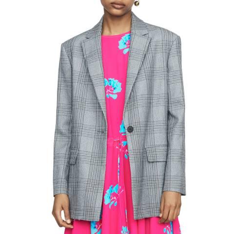 MAJE Grey Single Breasted Jacket