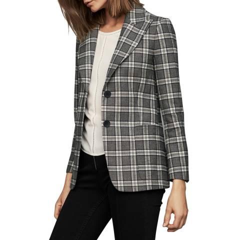 MAJE Multi Check Double Button Jacket
