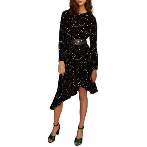 MAJE Black Retoile Asymmetric Dress