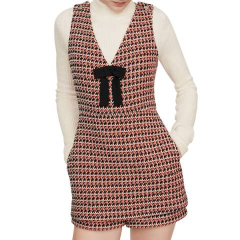 MAJE Redi Iroma Dogtooth Tweed Playsuit