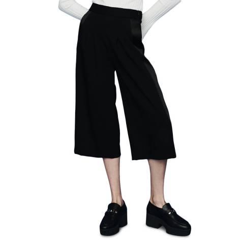 MAJE Black Wide Super Crop Culottes