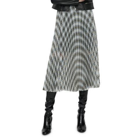 MAJE Multi Junga Pleated Midi Skirt