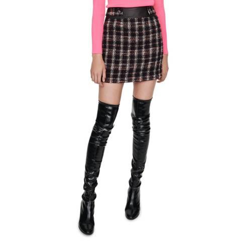 MAJE Multi Jisido Tweed Cotton Blend Skirt